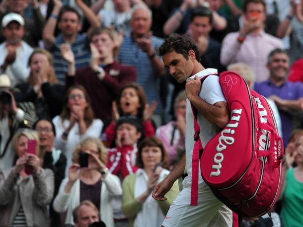 Federer out