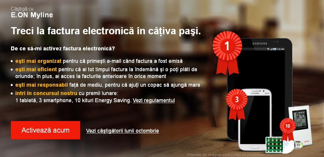 E.ON Myline – Treci la factura electronica in cativa pasi!