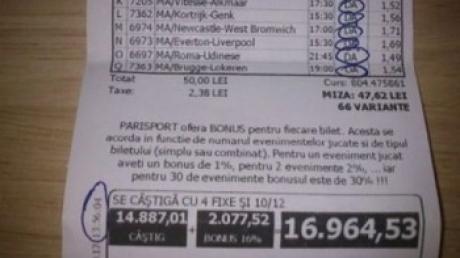 Românii au pariat 130 milioane de euro