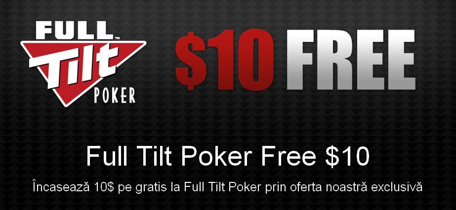 Incaseaza 10$ pe gratis la Full Tilt Poker
