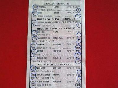 A jucat un bilet de UN METRU si a castigat o suma uriasa! Un roman a dat lovitura la pariuri cu 2 lei si 34 de meciuri